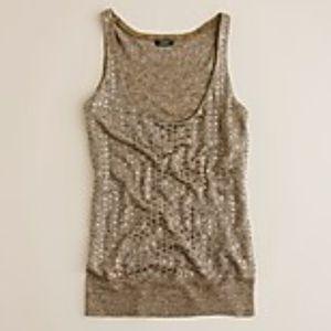 J CREW Beaded Sweater Cami Tank S/M $138
